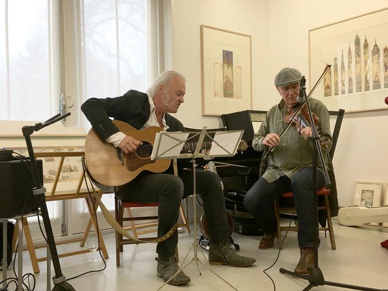 muziek tijdens de boekpresentatie van Peter Oudendijk en Steve Berger