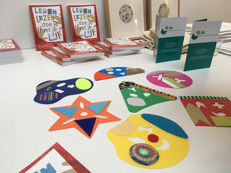 boeken Leren Lezen doe je met je Lijf en lire kaarten tijdens de boekpresentatie